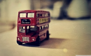 old english bus toy wallpaper