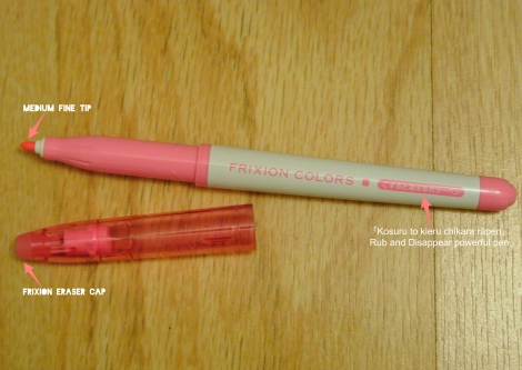 frixion marker pink