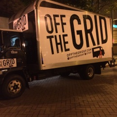 Started in 2010, Off the Grid currently operates 35 weekly public markets throughout the San Francisco Bay Area. Off the Grid seeks to maintain a shared sense of space by collaborating with local businesses and communities to active novel public spaces with truly unique experiences. (www.offthegridsf.com)