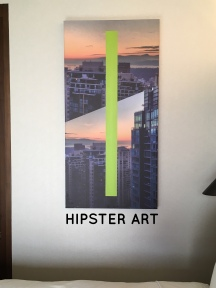 We had different hipster art in our new room.