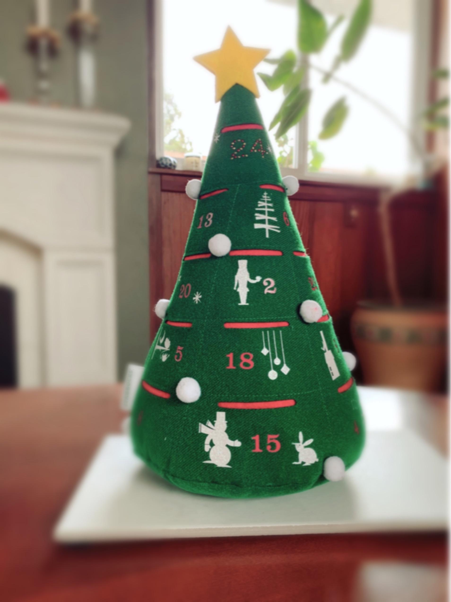 Starbucks advent tree.JPG
